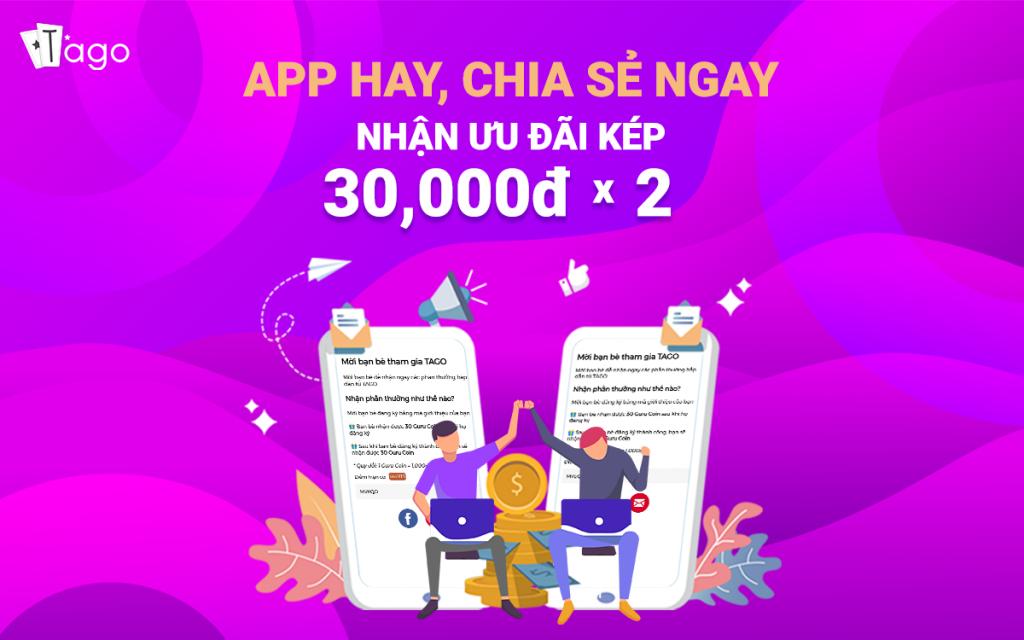 App TAGO hay chia sẻ ngay